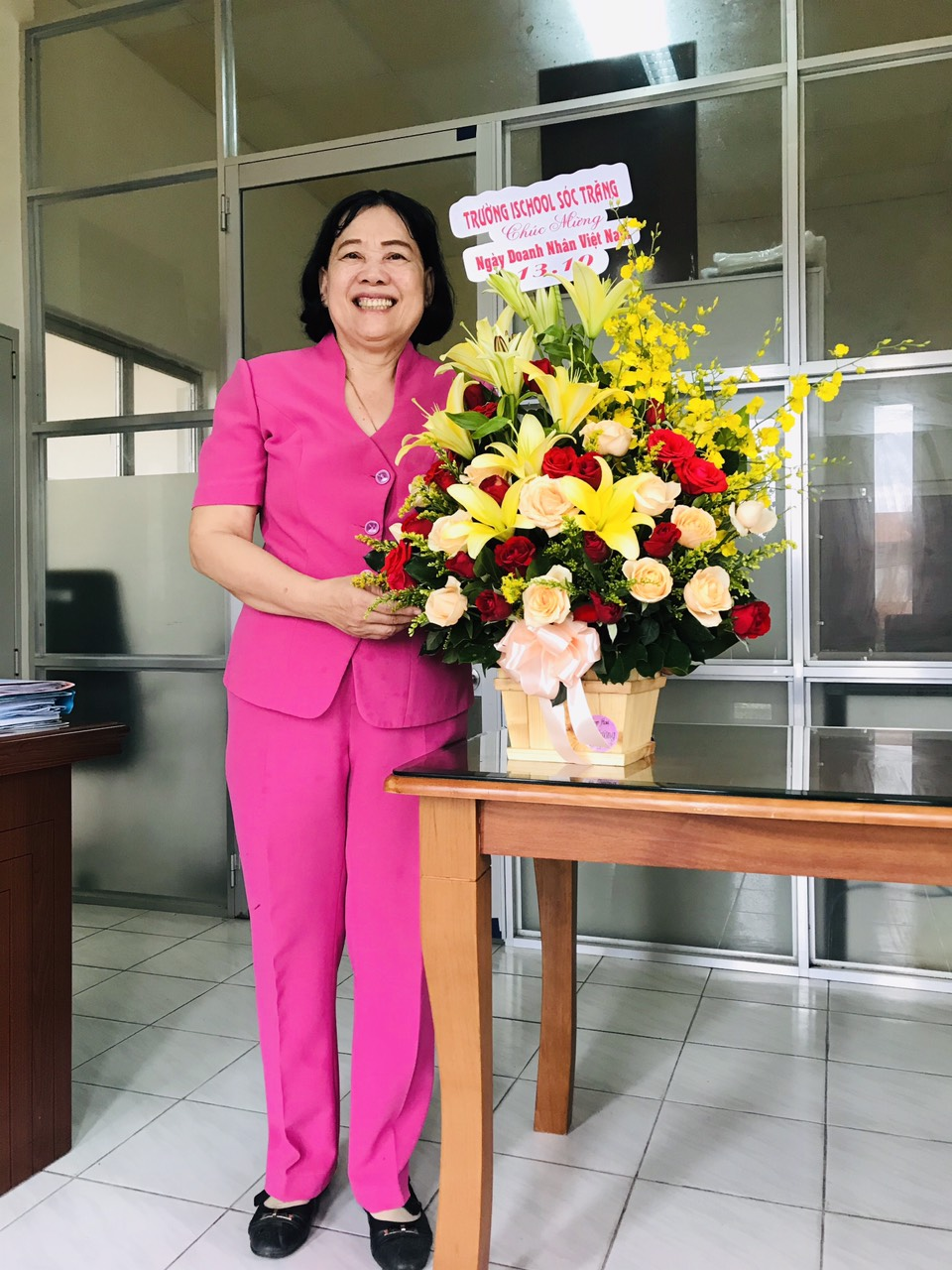 Bà Mã Thị Thanh, Phó Chủ tịch Hiệp hội tỉnh Sóc Trăng.